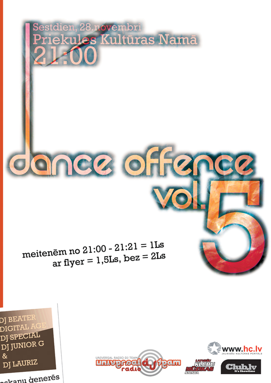 dance offence vol. 5 poster